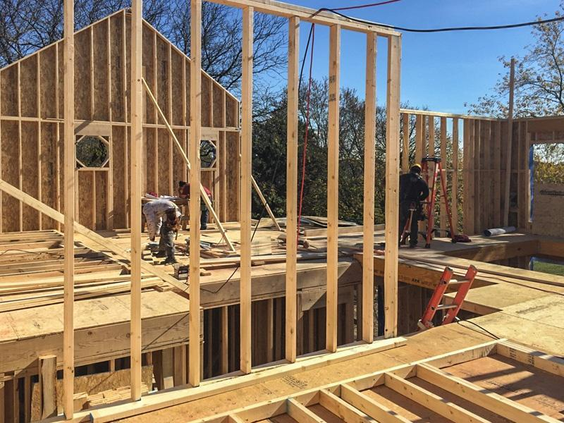 Framing Stage In Quot Modern Farm House Quot Eco Smart Home