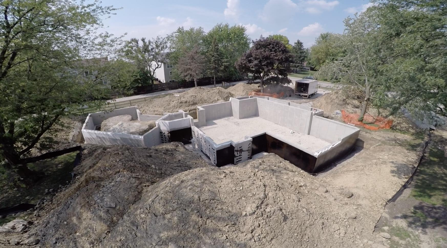 Foundation Damp Proofing Walls : Foundation stage in quot modern farm house eco smart home