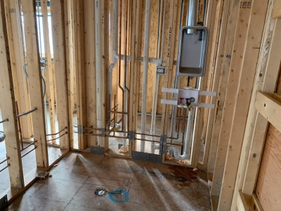 Rough Mechanical And Plumbing Stage - Addison IV Eco-Smart Model Home 00020.