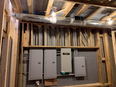 Rough Mechanical And Plumbing Stage - Addison IV Eco-Smart Model Home 00033.