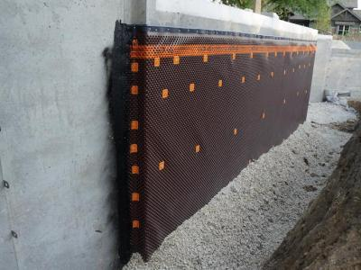 Delta MS Installed On Exterior Foundation Walls