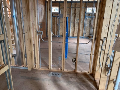Rough Mechanical And Plumbing Stage - Addison IV Eco-Smart Model Home 00022.