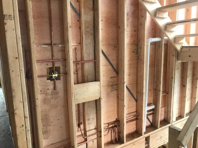 Rough Mechanical And Plumbing Stage - Addison IV Eco-Smart Model Home 00002.