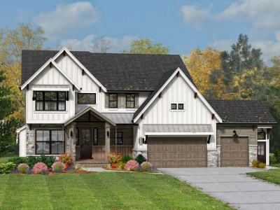 1. Parker IV Model Home Concept Rendering