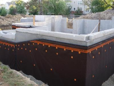 Delta MS Installed On Exterior Foundation Walls 1