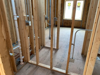 Rough Mechanical And Plumbing Stage - Addison IV Eco-Smart Model Home 00023.