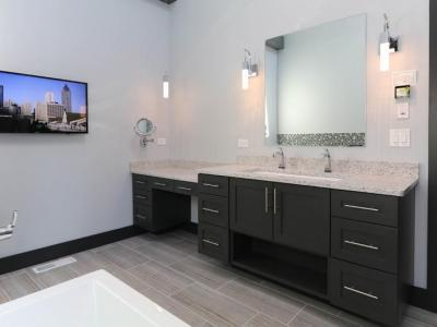 Master Bathroom Vanity With Built-in Media